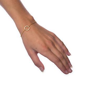 Bracelet Petite Circle-Gold