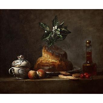 La Brioche,jean-Baptiste-Simeon Chardin,47x56cm