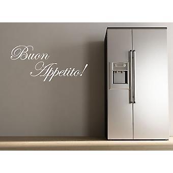 ブォンくださいませキッチンの壁のステッカー