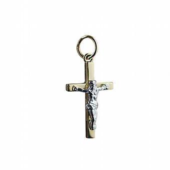 18ct goud 20x12mm massief blok kruisbeeld Cross
