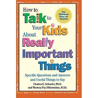 Parlare di cose importanti per i bambini