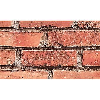 Brick Effect Slate Stone Sticky Back Plastic Fablon Vinyl Durable Self Adhesive Red/Grey