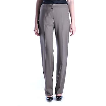 Armani Collezioni Ezbc049064 Kvinnor's Brown Wool Pants