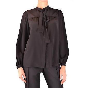Saint Laurent Ezbc022008 Women's Black Silk Blouse