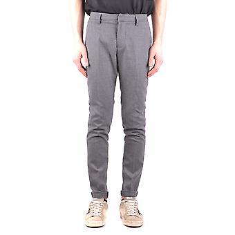 Dondup Ezbc051070 Men's Grey Wool Pants