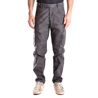 Daniele Alessandrini Ezbc107179 Men's Grey Cotton Pants