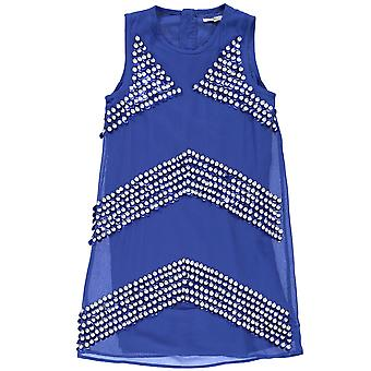 French Connection Kids Strap Squn Dress Junior Girls Sleeveless Round Neck Top