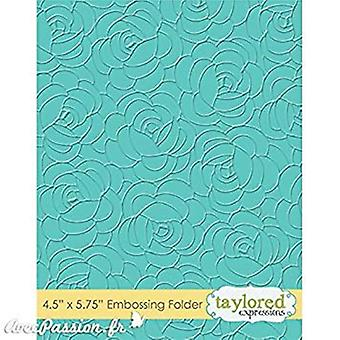Taylored Expressions Rosy Posey Embossing Folder