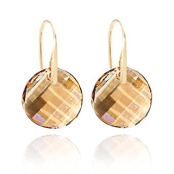 Ah! Jewellery Gold Over Sterling Silver Golden Shadow Twist Earrings, Stamped 925