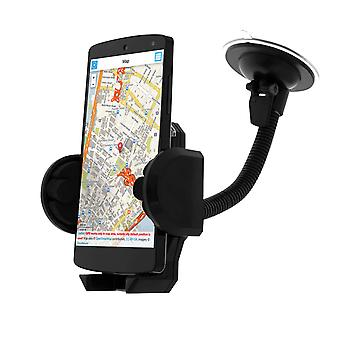 Rotary Car Holder for Smartphone - Suction Cup + Ventilation Grille