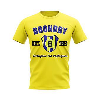 بروندبي أنشأت كرة القدم تي شيرت (أصفر)