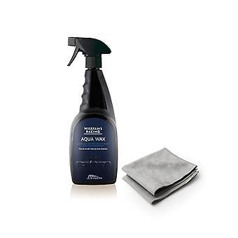 Williams Aqua Wax 750ml high gloss long lasting protection  with 2 Microfibres