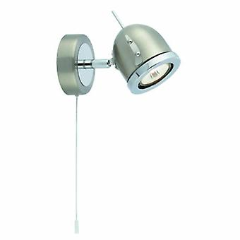1 ljus inomhus justerbar vägg Spotlight satin silver, krom