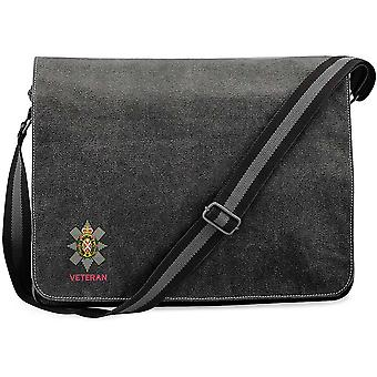 Black Watch Veteran - Concesso in licenza British Army Ricamato Vintage Canvas Spedizione Messenger Bag