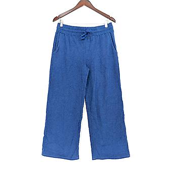 Anybody Women's Pants Loungewear Cozy Knit French Terry Blue A302398