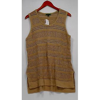 C. Wonder Women-apos;s Sweater Sleeveless Pointelle Sweater Tunique Brown A276232
