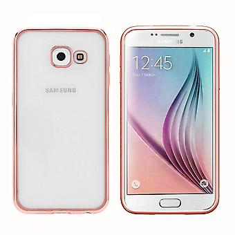 Samsung A3 2016  Hoesje Ros' Goud - Bumper Backcover Clear