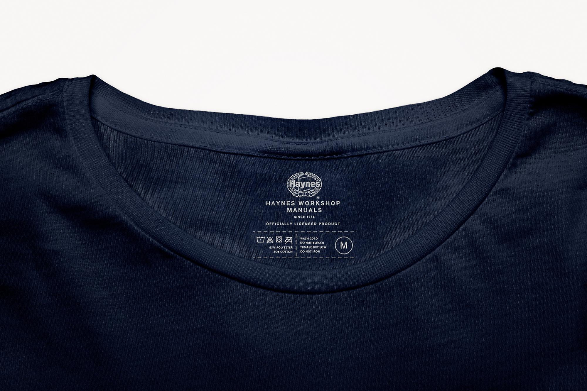 Official Haynes Manual Unisex T-shirt VW Beetle 1.6L '70 thru '74 Owners Workshop Manual