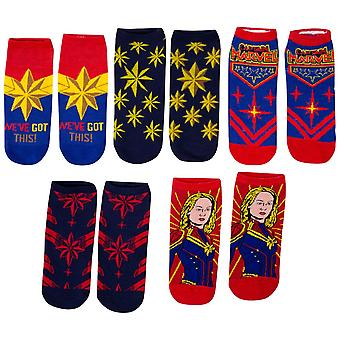 Captain Marvel Movie Five Pack Women's Socks