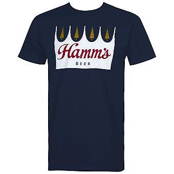 Hamm's Beer Crown Logo Men's Blue T-Shirt