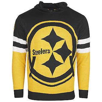 NFL Ugly Sweater Big Logo Knit Hoody - Pittsburgh Steelers