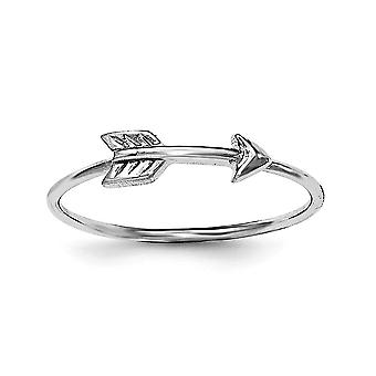 925 Sterling Silver Polished Arrow Ring - Ring Size: 6 to 8