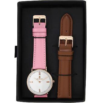 Watch Black Oak BX62004RSET-002 - watch leather pink woman