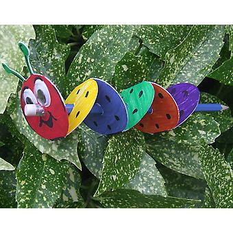 SALE - 100 Pencil Caterpillar Card Blanks to Decorate | Kids Insect & Bug Crafts