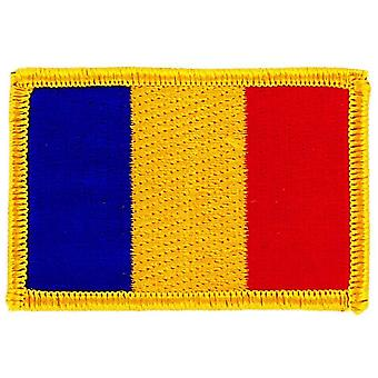 Patch Ecusson Brode Flag Romanian Romanian Flag Thermocollant Insigne Blason