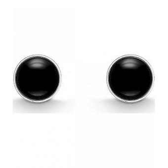 QUINN - Stud earrings (pair) - women - silver 925 - gemstone - onyx - 3618092