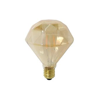 Light & Living 3W E27 LED Amber Diamond Style Light Bulb Ø10x11cm