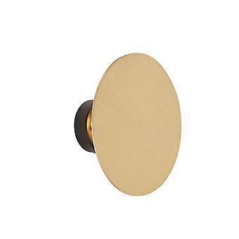 QAZQA Modern rodada lâmpada de parede de ouro-polia
