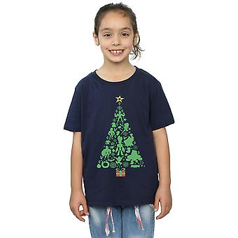 Marvel Girls Avengers Christmas Tree T-Shirt