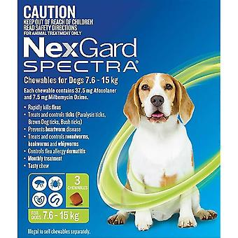 Nexgard Spectra Medium 7.5 - 15 kg (16 - 33 lbs) - 3 pack