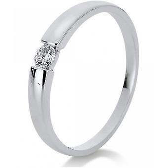 Anillo de diamantes - oro blanco 14K 585 - 0.27 ct.