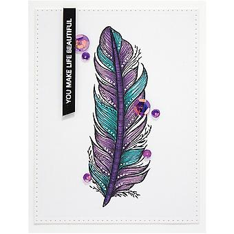 Spellbinders Cling Stamps By Stephanie Low - Botanical Feather .8