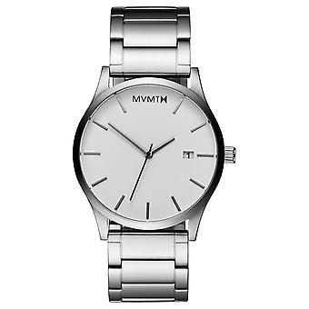 MVMT CLASSIC White Silver Men's Watch wristwatch stainless steel L213.1B.131