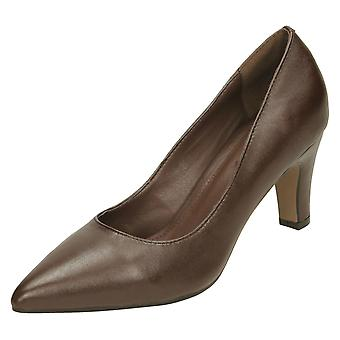 Ladies Leather Collection Court Shoes