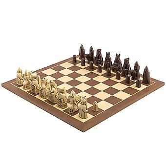 The Isle of Lewis Russet and Walnut Chess Set