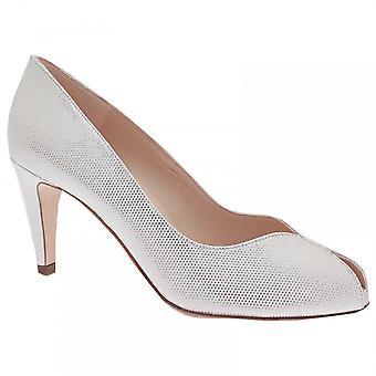 Peter Kaiser Sevilla White Peep Toe Court Shoe
