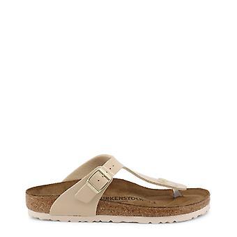 Birkenstock mujeres's flip flop, marrón
