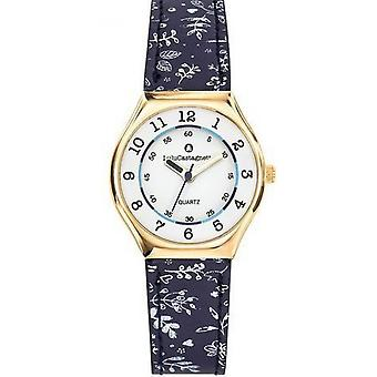 Watch Lulu Castanet 38848 - child Bracelet blue patterns Bo tier steel girl