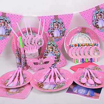 15pcs Party Tableware - Sawyer Girl