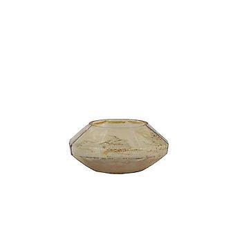 Licht-en leefthee 13x6cm - Tenzo Glass Gold Luster