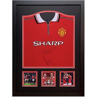 Manchester United Giggs & Scholes signiert Shirt (gerahmt)
