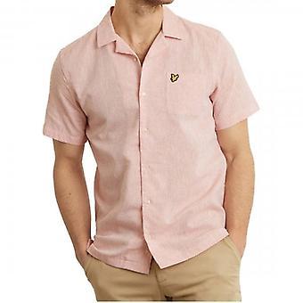 Lyle & Scott Coral Pink Resort Shirt Short Sleeve SW803V