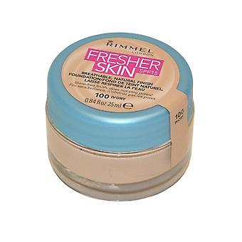 Rimmel London Fresher Skin Breathable Natural Finish Foundation 25ml Ivory #100 SPF15