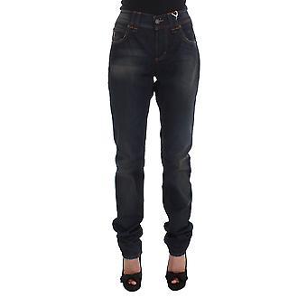 Galliano Blue Wash Cotton Blend Boyfriend Fit Jeans