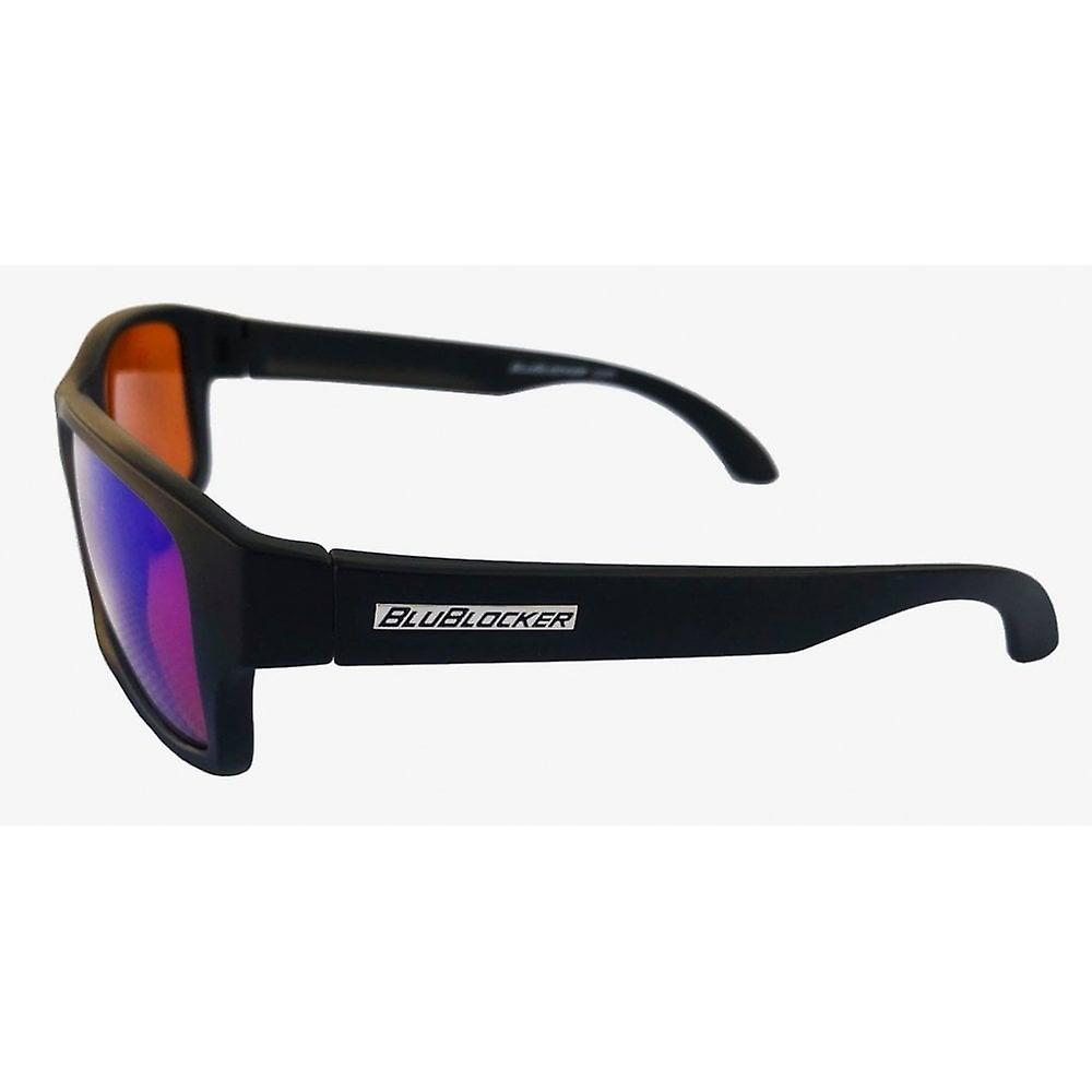 BluBlocker™ Wayfarer Polarized Blue Mirror Lens (Black Matte)