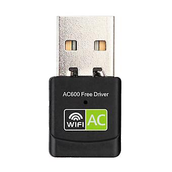 Stuff Certified® Mini WiFi USB Dongle Wireless Network 600Mb / s 5GHz Antenna Adapter Adapter Black